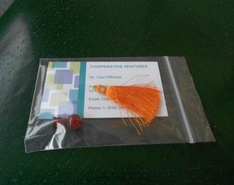 12mm guru  beads and tassel for Buddhist prayer mala: choose carnelian