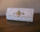 White Clutch--Platinum White Placemat Bag