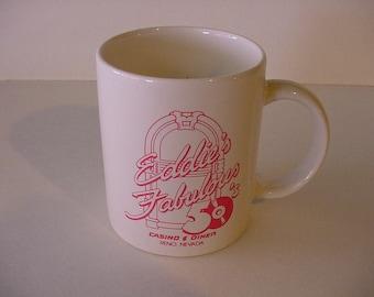 Obsolete Collectible Mug Eddie's Fabulous 50's Rock N Roll Jukebox Casino Reno Closed
