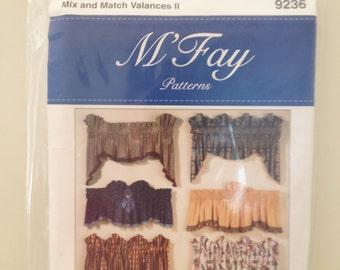Mix and Match Valances II M'Fay Pattern #9236