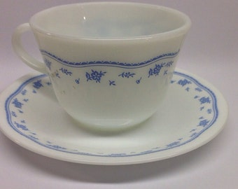 Corning Corelle Morning Blue Saucer Pyrex