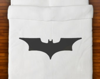 Batman Duvet Cover Bedding Retro Bat Logo Sign Queen King Twin