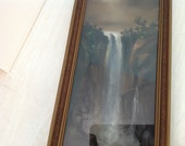 Reserve for Sue - MidCentury Waterfall Original Painting