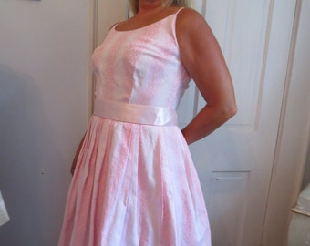 Authentic FIFTIES Pink Cotton SPAGHETTI Strap SUNDRESS