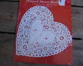 "Heart Paper Doily 6"" Pack of 12 New in Package Wedding Heart Paper Doily White w/red and pink hearts"