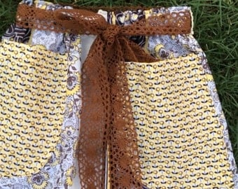 Girls fall floral skirt with jumbo pockets great for back to school,preschool ,kindergarten or any grade school
