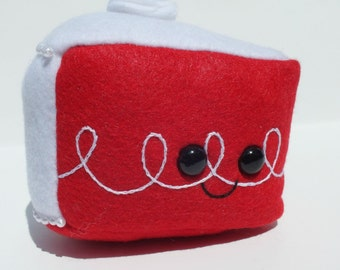 Red Velvet Cake Slice Plush