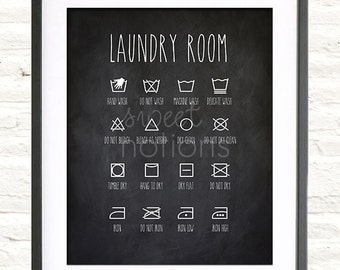 Laundry Room - Chalkboard Inspired Print