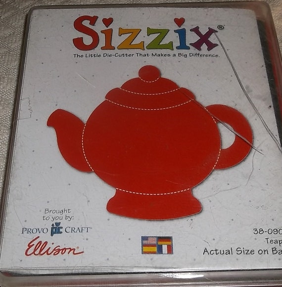 Sizzix Original Red Die    Retired  NEW   TEAPOT   38-0908  Very Rare  NEW