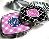 Compact Mirror - Personalized Compact Mirror - Bridesmaid Gift - Monogram Mirror - Mini Mirror for Purse or Bag