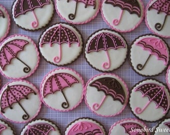 baby shower umbrella cookies bridal shower umbrella cookies polka dot u0026 patterned umbrella cookies