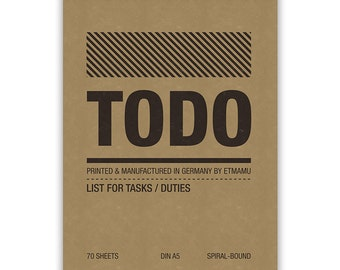 Todo List Simple A5 60 Pages