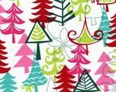 Christmas Fabric Michael Miller Holidays Yule Trees in Multi 1 yard