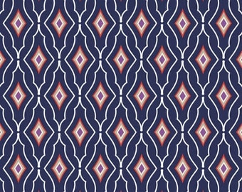 Paisley Please by Jackie Savage McFee for Camelot Fabrics Preppy Harlequin in Multi half yard