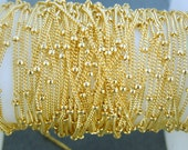 Gold Fill Beaded Satellite Chain -- By the Foot (0444y)