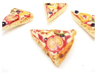 Miniature Pizza Polymer Clay Fridge Magnets