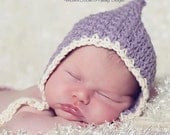 Crochet PATTERN - Vintage Baby Bonnet Crochet Hat Pattern - Includes Baby, Toddler, Child, Kids, Adults Sizes - Photo Prop - PDF 266