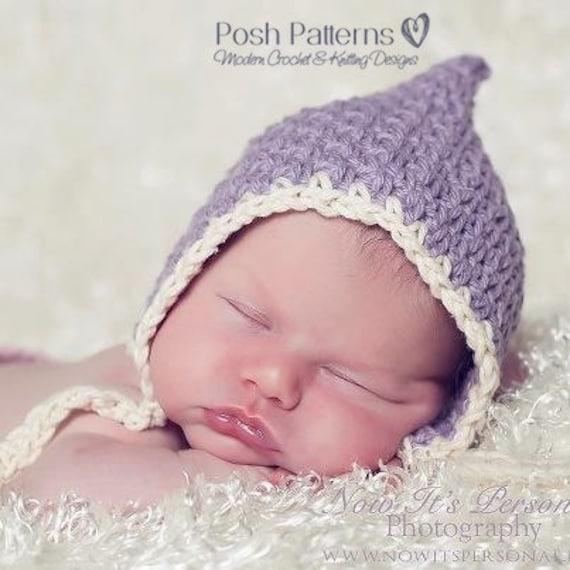 Crochet Pattern Vintage Baby Bonnet Crochet Hat Pattern