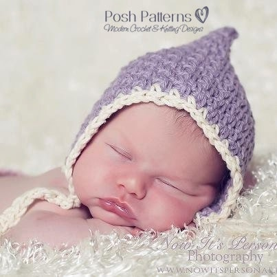 Free Crochet Patterns For Vintage Hats : Crochet PATTERN Vintage Baby Bonnet Crochet Hat Pattern