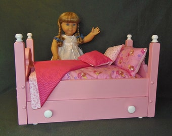 Victorian Style Trundle Doll Bed fits the American Girl Doll and all 18 inch dolls Handmade