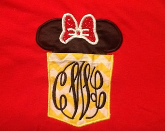 Minnie Mouse inspired pocket tee