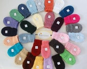 Winter is coming, Knit THUMBLESS MITTENS, Baby Mittens, Baby Mittens with String, Mittens with string, Newborn/24 Months