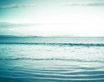 ocean photography beach nautical decor coastal print 8x10 20x30 fine art Photography waves ocean sunset photography blue teal aqua large art