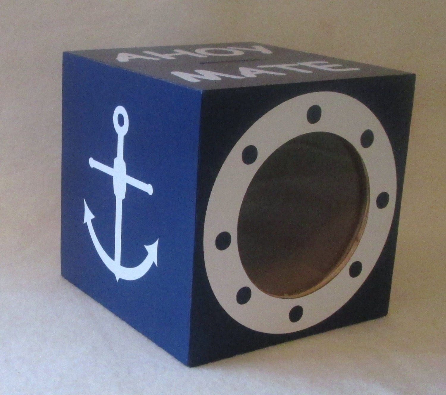 Nautical piggy bank wood bank coin bank by msw2011 on etsy - Nautical piggy banks ...