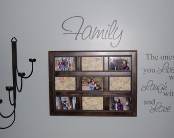 Family (Live, Laugh, Love) Wall Art
