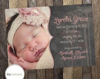 Digital Baby Birth Announcement -- So Sweet