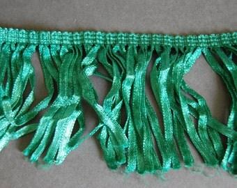 Emerald Green Ribbon Fringe