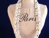 Vintage White Monet Enamel  Choker Necklace