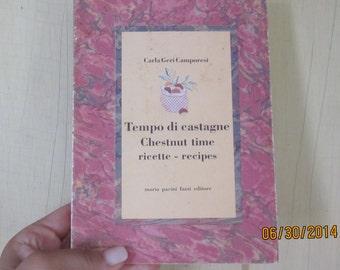Pre-Christmas Sale -Vintage ChestnutCookbook in Two Languages