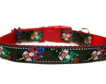 "Christmas Dog Collar 3/4"" Nutcracker Dog Collar SIZE MEDIUM"