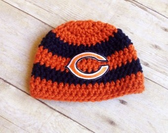 Newborn Boy Chicago Bears Inspired Beanie - Ready to Ship