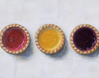 Jam tarts. Limited edition giclée print.