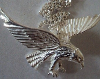 """Solid Sterling Silver """"The American Eagle"""" Necklace"""