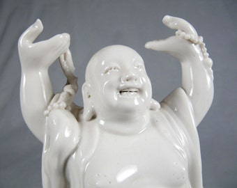 Porcelain Buddha, Blanc de Chine, chinoisere, likely Republic Period,1910-1920