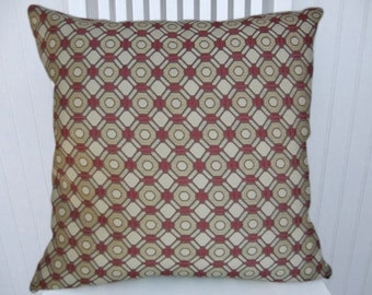 Pink Gold Pillow Cover-- 18x18 or 20x20 or 22x22--Small Print Decorative Throw Pillow- Accent Pillow