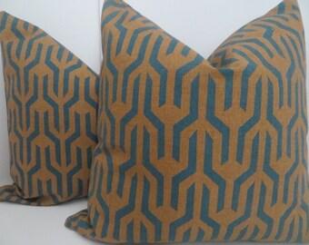 Navy Blue Decorative Pillows,Antiquity Bisque Pillow cotton, Camel And Navy Blue Pillow, Pillow Cover, Blue Pillow Cover