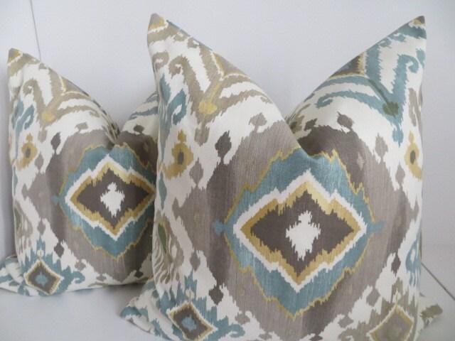 Ikat Pillow CoversTurquoise Ikat PillowsDecoartive IKat