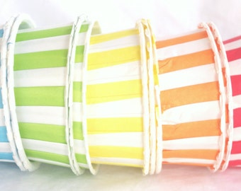 Rainbow stripe-NuT/CANDy/PoRTiON CuPS-25 ct-parties-snacks-cupcakes