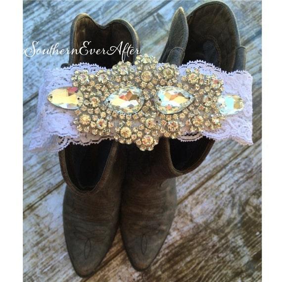 Rhinestone Wedding Keepsake Garter / bridal garter/ lace garter / toss garter / vintage / Shabby Chic
