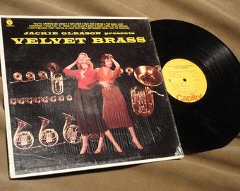 Vintage Jackie Gleason Presents VELVET BRASS Insturmental Jazz Lounge Lp Record Album SM-859 Mad Men Eames Era Mid-Century 1950's 60's Rare