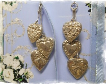 Vintage Wedding Day Earrings Sterling Silver Keepsake