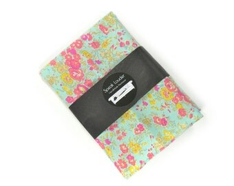 Wedding Mens Pocket Square -Hal Foster  - Seafoam, yellow and pink Flowers Liberty cotton