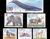 Wildlife Series of 6 Stamps from Canada Post