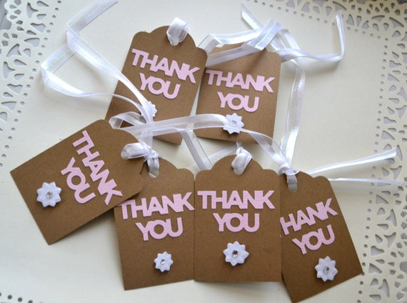 Thank You Gift Tags- Wedding Party Thank You Gift TagsParcel Gift ...