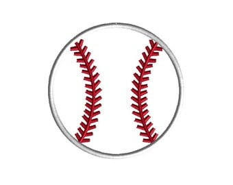 Baseball Applique Embroidery Design for Machine Embroidery-INSTANT DOWNLOAD