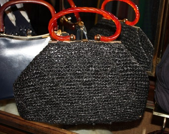 1950's Straw Purse  Item #205-AP